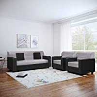 Bharat Lifestyle brings to you modern and comfortable sofa set for your living room. Bharat Lifestyle Cosmo Fabric Black & Grey 3+1+1 Sofa Set is made of Acacia wood. It has an elegant design which enhances the interior decor of your living room....