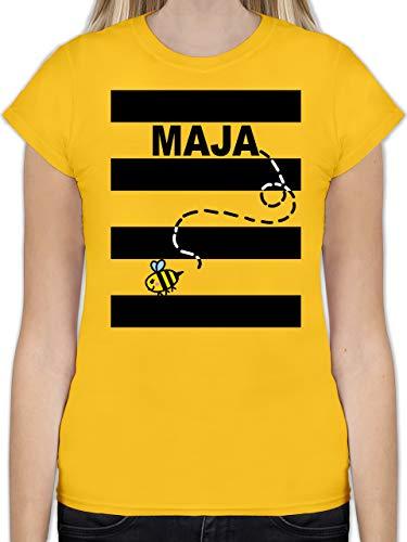 Karneval & Fasching - Bienen Kostüm Maja - L - Gelb - L191 - Tailliertes Tshirt für Damen und Frauen T-Shirt