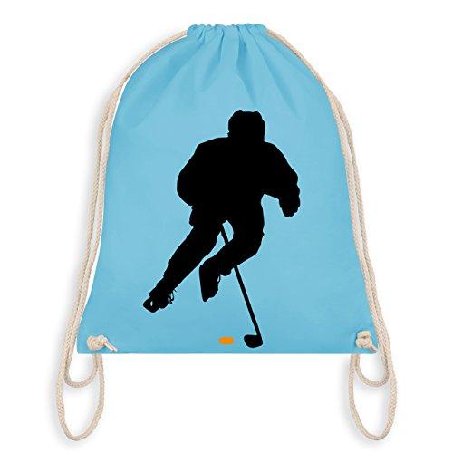 Shirtracer Eishockey - Eishockey Spieler - Unisize - Hellblau - WM110 - Turnbeutel I Gym Bag