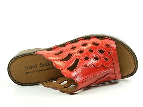Josef Seibel Rebecca 23, Sandales Femme Rouge (43 019 Coral)