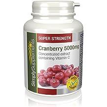 Canneberge (Cranberry) 5000mg 120 Comprimés | Prévient les Infections Urinaires | Avec vitamine C | Fabriqué au Royaume-Uni