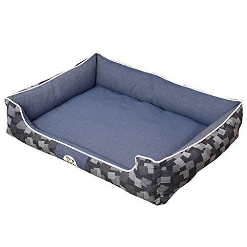 Biss- Und Schmutzabweisendes Matratzenset Für Haustiere Katzen- Und Hunderückensofa Mit Hoher Rückenlehne Multifunktionales Waschbares Haustierbett (Color : Blau, Size : 70 × 55 × 22cm)