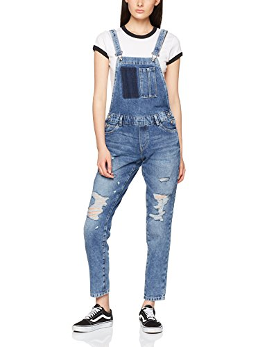 ONLY Damen Latzhose Onlkim Witty Dnm Overall Pim, Blau (Medium Blue Denim Medium Blue Denim), Small (Herstellergröße: 36)
