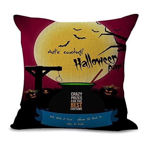 Blakww Halloween Skull Pillow Cover Polyester Plush Fabrics Sofa Decor Throw Pillowcase Sham Decor Cushion Cover (#07)
