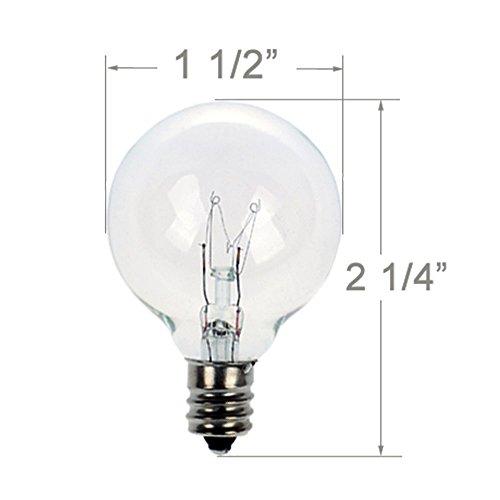 * Lampadine di ricambio per G40 Globe luci della stringa, 7W, Lampadina ad Incandescenza, 25 Pezzi confronta il prezzo