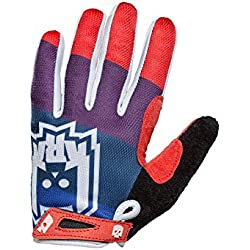 KRKpro*tection PAMPER guantes Azul/Rojo BMX MTB Dirt FREERIDE DH (Azul/Rojo, Large)