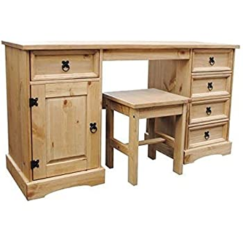 home discount corona dressing table 4 drawer solid pine. Black Bedroom Furniture Sets. Home Design Ideas
