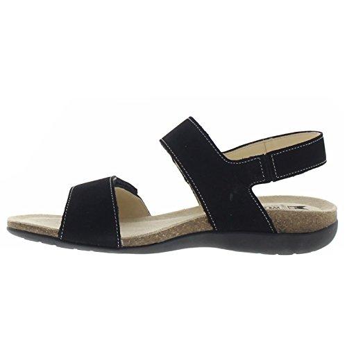 Mephisto Womens Agave Nubuck Sandals Nero