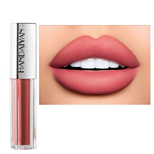 style_dress Rouge A Levre Mate Pas Cher, Rouge à LèVres, Levre Acide Hyaluronique, éPonge Maquillage, Sexy 10 Couleurs Diamond Shining Nude Shimmer Glossy Lipstick