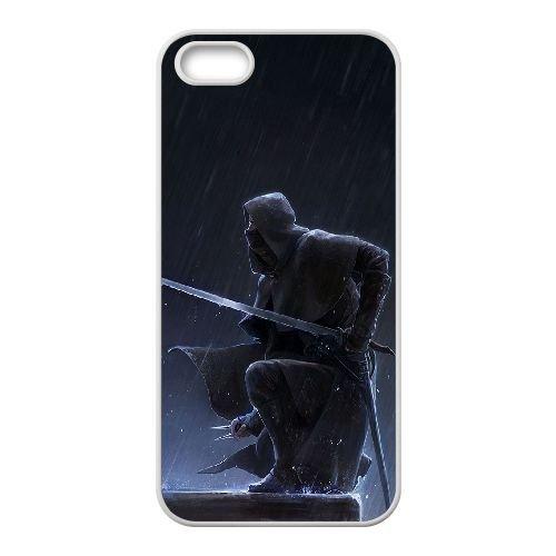 Corvo Attano Dishonored 3 coque iPhone 5 5S Housse Blanc téléphone portable couverture de cas coque EBDXJKNBO16855