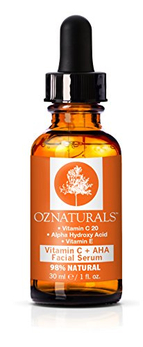 Oz naturals Vitamin C Serum + AHA For Skin - Anti Aging Anti Wrinkle Serum Combines Potent Vitamin C with Natural Alpha Hydroxy Acids Which...