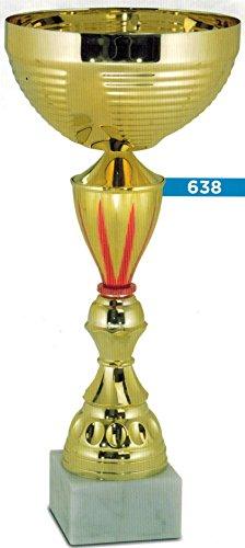 TROFEO COPPA PER PREMIAZIONI SPORTIVE - H CM 25,5 D CM 10 - RIFINITA - MADE IN ITALY - 10 Trofeo Coppa