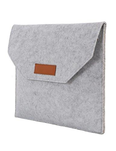 FHQSX 10.5 Zoll Filz Laptoptasche Schutzhülle Sleeve für Apple iPad 10.5 Zoll Tablette Hülle Case, Hellgrau (Portable Pavillon)
