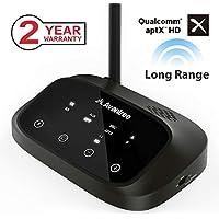 Avantree [Premium Version] Oasis Plus 50M aptX HD HOHE REICHWEITE Bluetooth Transmitter Receiver für TV Audio, Home Stereo, Optisch kabelgebunden & Wireless gleichzeitig, Dual Link aptX Low Latency