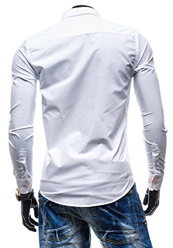 BOLF - Chemise casual – BY MIRZAD 0724 – Homme Blanc