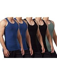f17a40fa8872 FALARY Camiseta de Tirantes para Hombre Pack de 5 de Algodón 100% más  Colores