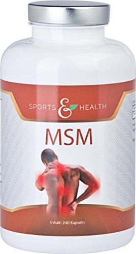 MSM Kapseln - 8 Monatsvorrat - Ohne Magnesiumsterat - OptiMSM - MSM Pulver - Methylsulphonylmethan - Schwefelpulver -