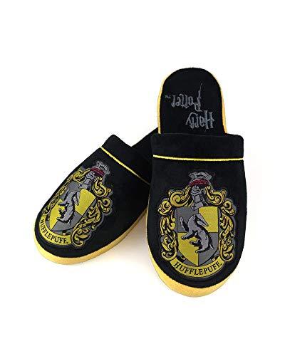 Harry Potter Offizielle Hogwarts Hufflepuff Adult Mule Hausschuhe - UK 8-10