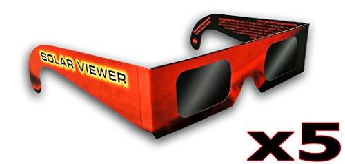 Gafas de Eclipse Solar Paquete de 5