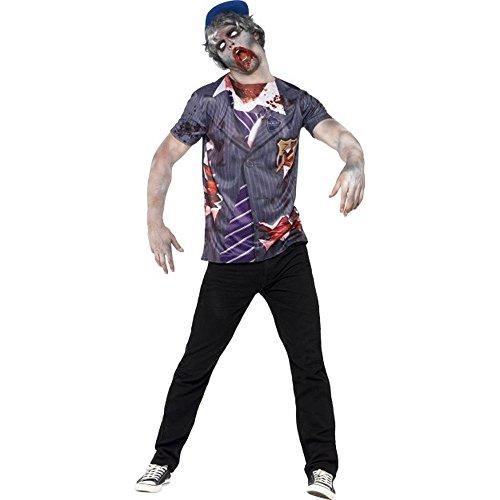 Halloween Herren Kostüm Zombie Schuljunge Zombiekostüm (Halloween Kostüm Schuljunge)