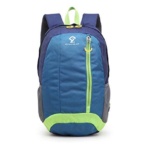 LJ&L Outdoor Sport Freizeit Wandern Tasche, tragbar und atmungsaktiv, 20L Kapazität verstellbaren Rucksack Blue