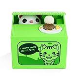 Peradix Salvadanaio Elettrico Gatto Furbo, Ottimo Regalo per Bambini e Amanti dei Gatti, Batterie non Include