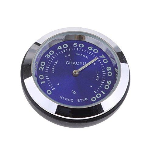 perfk Mini Auto Thermometer Temperaturanzeige Hygrometer, 4 * 4 * 4cm - Blau