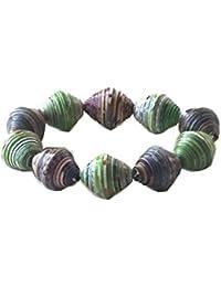 Mardi Gras Bracelet Handmade by Mimi Pinto