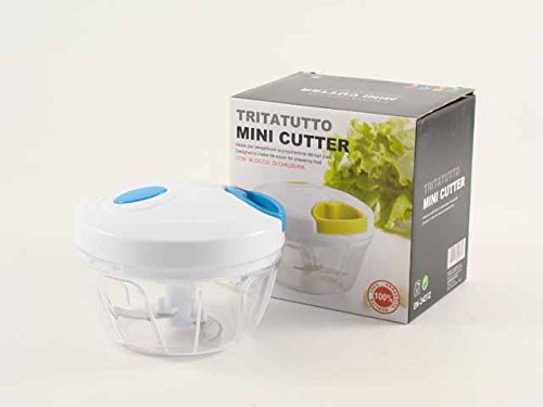EURONOVITA\' Zerkleinerer Mini Cutter Halbmondform manuell Größe, zerkleinert, sffetta Obst, Gemüse und vieles mehr