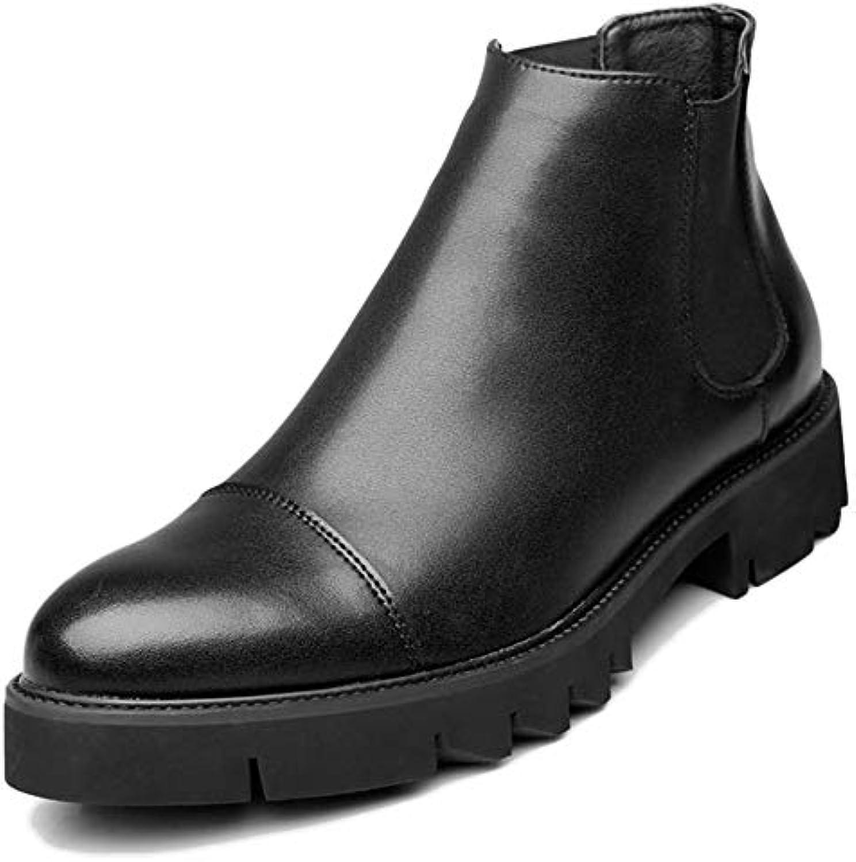 Botas Chelsea De Cuero Genuino Para Hombre Botas De Tobillo Al Aire Libre Antideslizantes Puntiagudas Para Zapatos...
