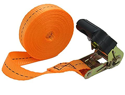 WINGONEER Endless Loop Ratchet Tie-Down Standard Duty Ratchet Endless No Hooks/Lashing, 1,700 lbs.196inch -