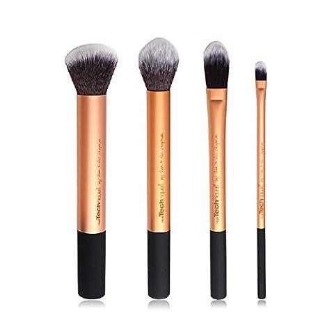 K&C Brush visage maquillage professionnel Eyeliner Contour Blush Cosmetic Liquid Foundation Powder Pinceaux Crème 4 Pcs