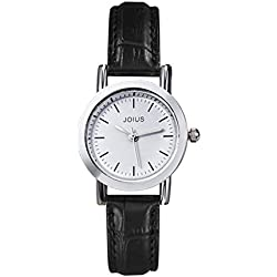 Student casual leather strap watch/Fashion quartz watch/Simple casual watches-E