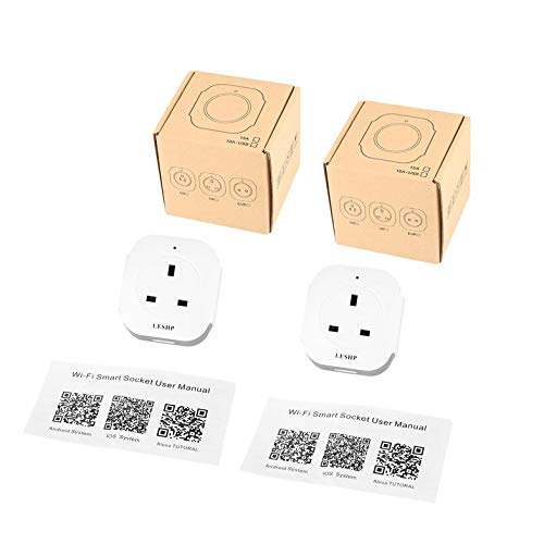 Clover LESHP 2pcs Single Port Wireless WiFi Smart Mini Socket Plug with USB Output Clover Electronics Usb
