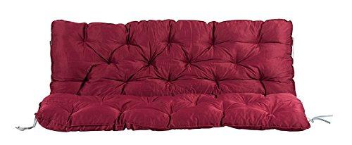 Meerweh Rückenteil für Bank ca. 150 x 98 x 10 cm Auflage, Rot, 20062