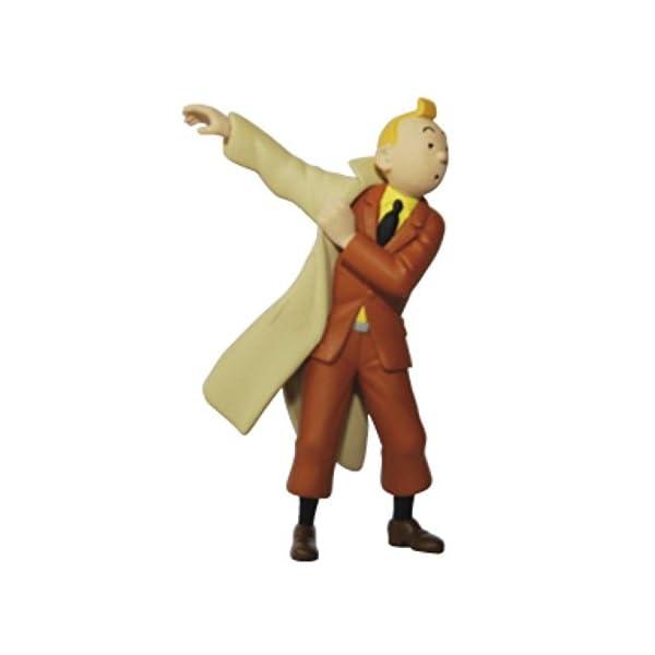Moulinsart Figura de colección Tintín poniéndose la Gabardina 8,5cm 42473 (2011) 1