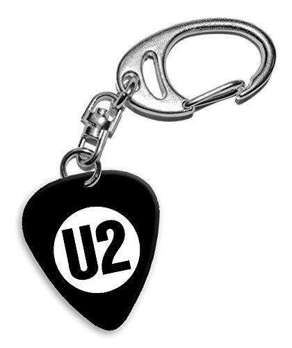 U2 Band Logo Llavero de púa de guitarra (H)