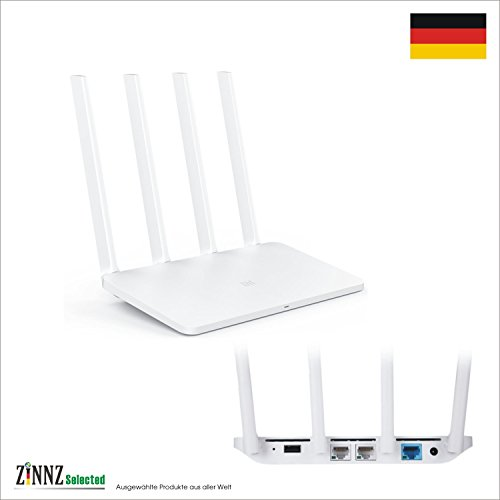 # Internationale Version # Xiaomi Mi Router 3 Wlan Wifi Router Dual-Band 802.11ac/n 2.4Ghz 5Ghz Gigabit Router WLAN Repeater Leistungsstark 128MB ROM # ZINNZ Selected # (Dual-band-wireless-n-gigabit-router)