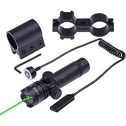 Viseur Laser Vert Pointeur Green Laser Sight Airsoft Fusil de Tir Pistolet Fusil Tactique Visée Laser Vert Chasse pour Pistolet