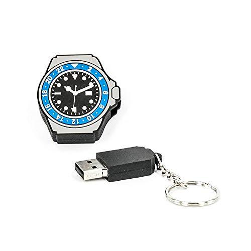 Preisvergleich Produktbild R.L.X. MINI USB UHR WATCH 8GB GMT MASTER II SCHWARZ BLAU GADGET GESCHENK TIPP NEUHEIT