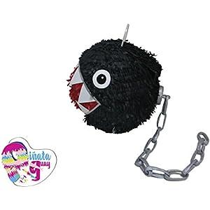 Chomp Piñata-Ketten. Ketten Chomp Piñata. Super Mario Piñata. 3D. (Optionaler Stick)