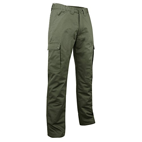 LMA – Pantaloni cargo foderati in pile, color cachi, verde, 1007 OURS