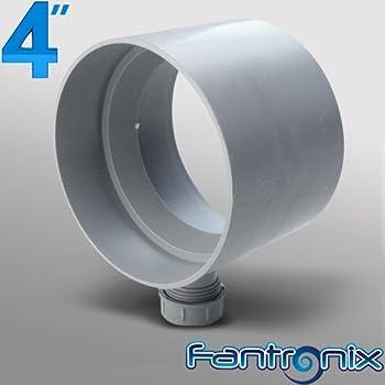Manrose Condensation Trap 100mm Diameter Plastic Ducting Hydroponics Ventilation Extractor
