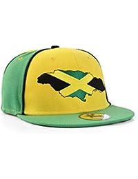 Jamaika Grün Und Gelb Snapback Baseballkappe (Jamaica)