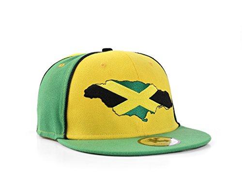 Jamaika Grün Und Gelb Snapback Baseballkappe (Jamaica) (Baseball Jamaika)