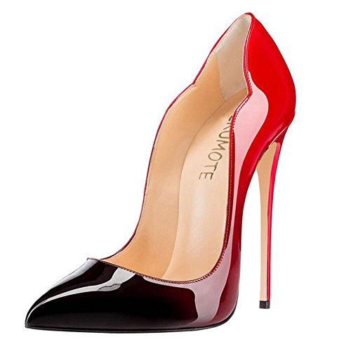 MERUMOTE - Punta appuntita donna Red&Black