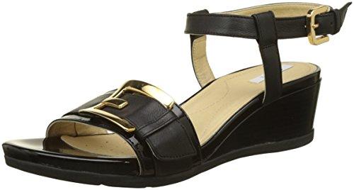 Geox d marykarmen d, sandali con cinturino alla caviglia donna, nero (black), 35 eu