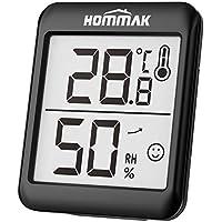 Hommak Mini Higrómetro Termómetro, Digital Termohigrómetro Interior, Medidor para Temperatura y Humedad, Casa, Hogar, Oficina, Salón