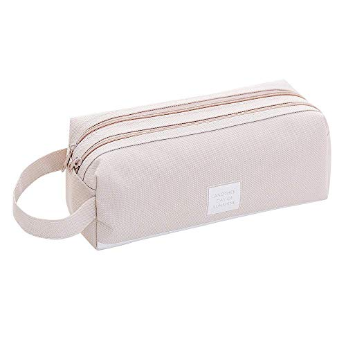 MODEOR Creative Pencil Case Students Kids Brief Style Pure Color Large Capacity Pen Pencil Bag Stationery (Gray) -