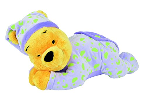 Disney Peluche Veilleuse Brille Dans la Nuit - Winnie Glow in the Dark - 30 cm